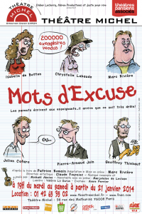mots d'excuse theatre michel affiche