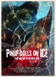pinup dolls on ice affiche