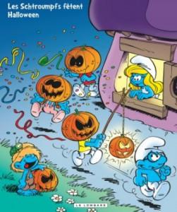 les schtroumpfs fetent halloween couverture