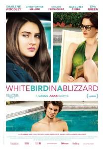white bird in a blizzard affiche