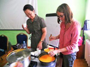 A - Cours de soupe en Mongolie