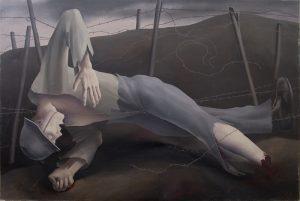 Robert Angerhofer, Le soldat mort dans du fil de fer barbelé, 1920