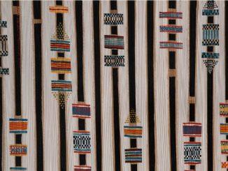 Photo d'un plissé africain réalisé par Isabelle de Borchgrave en 2018