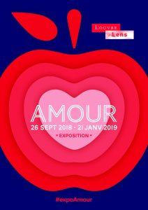 Affiche de l'expo Amour au Louvre-Lens (2018-2019)