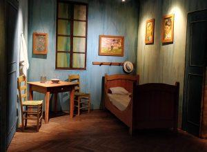 Reconsitution de la chambre de Van Gogh à Arles lors de Expo Van Gogh à la Bourse de Bruxelles (2018)
