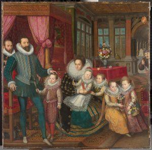 Portrait de famille de Karel van Arenberg et Anna van Croy