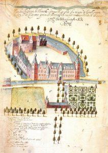 Dessin du château d'Heverlee en 1596