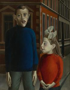 Otto Dix, Zwei Kinder, 1921.