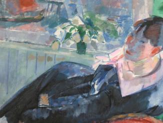 """Détail du tableau """"Après-midi à Amsterdam"""" de Rik Wouters (Musee des Beaux Arts Ville de Liège)"""