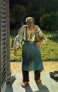 Emile Claus, Le vieux jardinier, vers 1886 @Ville de Liège
