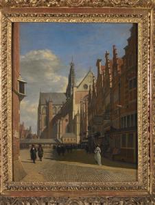 Gerrit Berckheyde, La grand'place de Haarlem, XVIIe siècle. ©MRBAB, Bruxelles / photo : Grafisch Buro Lefevre, Heule