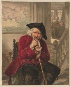 Abraham van Strij, Vieillard assis, en appui sur sa canne, probablement avant 1796. © MRBAB / photo : J. Geleyns - Art Photography.