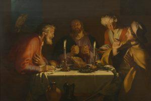 Photographie du tableau d'Abraham Bloemaert, Les disciples d'Emmaüs, 1622.
