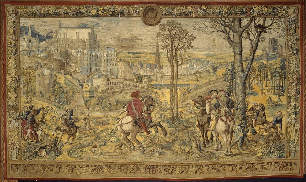 tapisserie de chasse (tenture dite des Chasses de Maximilien) réalisée par Bernard Van Orley vers 1531-33.