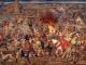 Détail de la tapisserie représentant la Bataille de Pavie, créé par Bernard Van Orley vers 1528-1531
