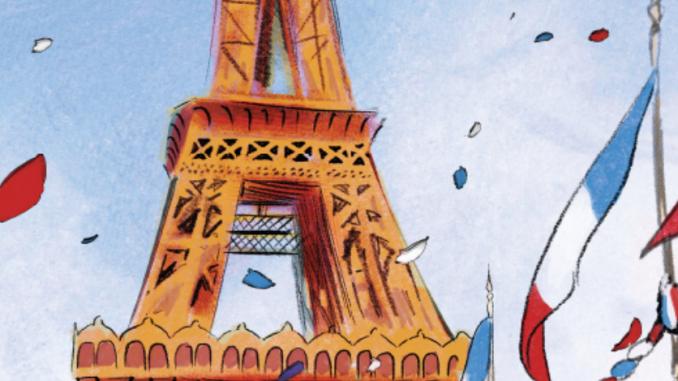 """Extrait d'une planche de la bande dessinée """"A comme Eiffel"""" (Castermann, mars 2019)"""