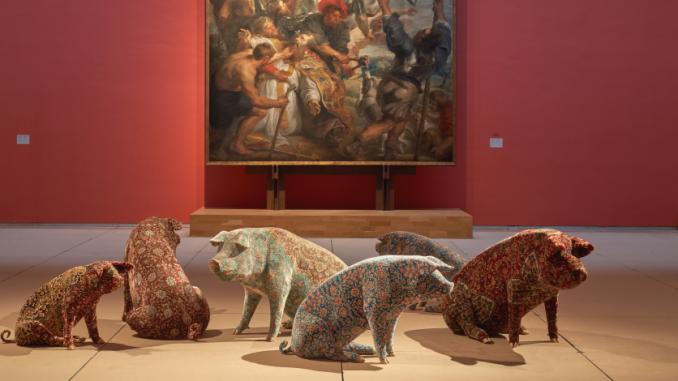 expo Wim Delvoye aux Musées royaux des Beaux-Arts de Belgique, mars 2019