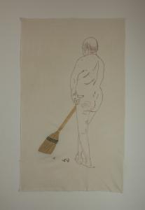 Agnès Guillaume, JustMen #7, 2018, broderie, 87 x 146 cm, © Jo Terrien