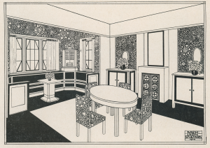 L'intérieur moderne, article illustrated by Leon Sneyers and published in The Home, June 1914. Coll. CIVA, Brussels.