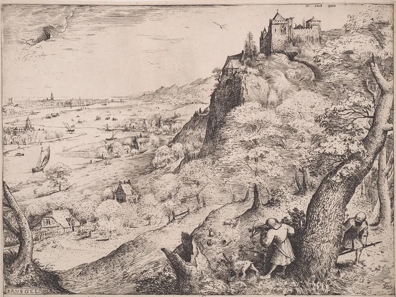 Hieronymus Cock d'après Pieter Bruegel l'Ancien, La chasse au lapin, 1560 © KBR
