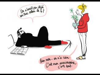 Vignette extraite de la bande dessinée « L'Homme vol. 1 » de Mademoiselle Caroline (Delcourt, 2019)