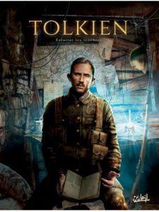 Couverture de la BD « Tolkien : éclairer les ténèbres » (éditions Soleil, 2019)