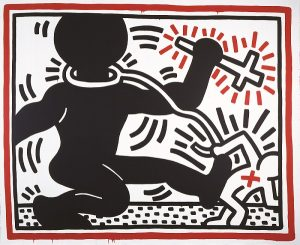 Untitled, 1984. Acrylic paint on canvas, 298 x 365 cm © Keith Haring Foundation