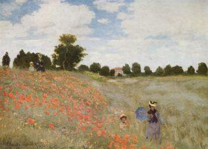 Claude Monet, les Coquelicots, 1873, huile sur toile, musée d'Orsay, Paris