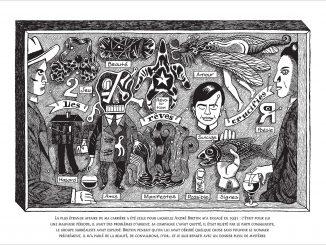 Détail d'une planche extraite du livre « Nick Carter et André Breton : Une enquête surréaliste » de David B. (Noctambule, 2019)
