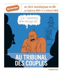 "Couverture de la BD ""Au tribunal des couples"" (Castermann, 2020)"