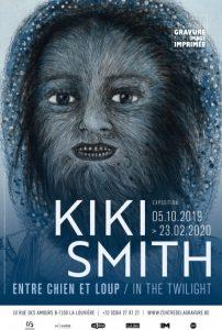 Affiche de l'expo Kiki Smith au Centre de la gravure et de l'image imprimée à La Louvière