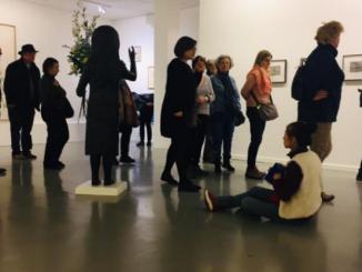 Visite de l'expo Kiki Smith le 20 novembre 2019. © Centre de la gravure et de l'image imprimée, La Louvière.