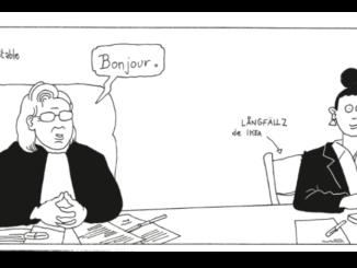 """Planche extraite de la BD """"Au tribunal des couples"""" (Casterman, 2020)"""