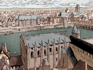 Détail d'une planche du tome 2 de la BD « La Cour des miracles » (Soleil, 2020)