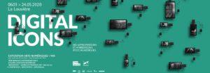 Poster de l'expo Digital Icons, La Louvière, 2020