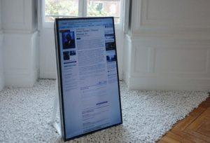 Gregory Chatonsky, Le jour de notre mort, installation multimédia-web, 2017 © transnumeriques.be