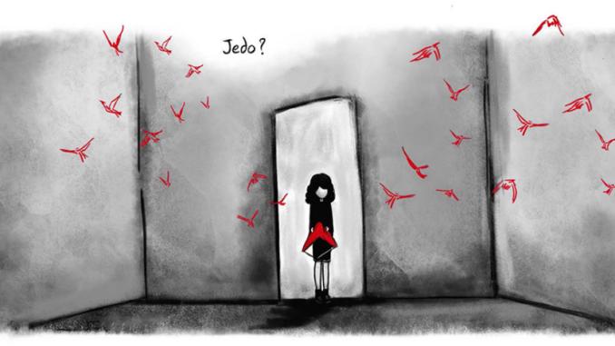 Extrait du roman graphique « Les oiseaux ne se retournent pas » de Nadia Nakhlé (Delcourt, 2020)