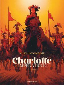 Couverture du tome 2 de la BD « Charlotte Impératrice » (Dargaud, 2020)