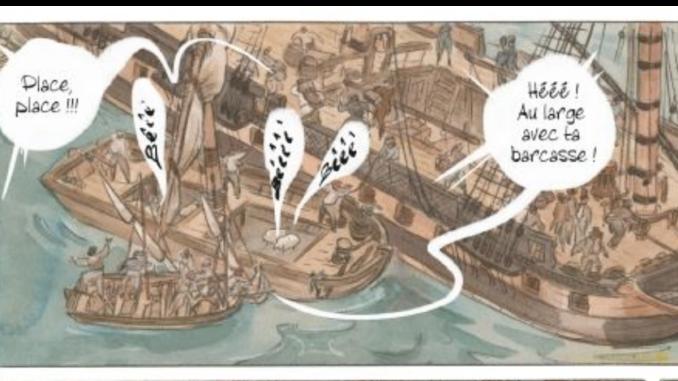 Extrait de la BD « Les Naufragés de La Méduse » (Casterman, 2020)