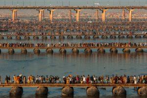 Festival religieux de la Kumbh Mela sur les bords du Gange, Allahbad, Uttar Pradesh, Inde