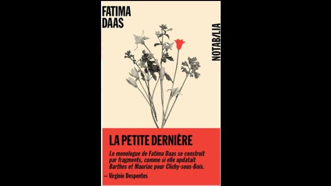 """Couverture du livre """"La petite dernière"""" de Fatima Daas (2020)"""