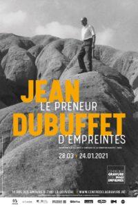 """affiche de l'expo """"Jean Dubuffet le preneur d'empreintes"""""""
