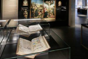 Quelques manuscrits exposés dans le KBR museum © KBR
