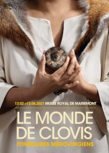 """Affiche de l'expo """"Le Monde de Clovis"""" (Musée royal de Mariemont, 2021)"""