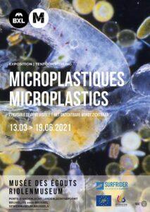 """Affiche de l'expo """"Microplastiques"""", Musée des Egouts de Bruxelles, 2021"""