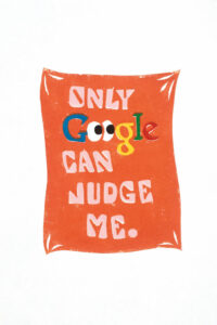 Pablo Cots, 'Only Google can judge me', 2020