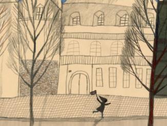 Extrait d'une illustration de La gigantesque petite chose de Beatrice Alemagna (Casterman, 2021)