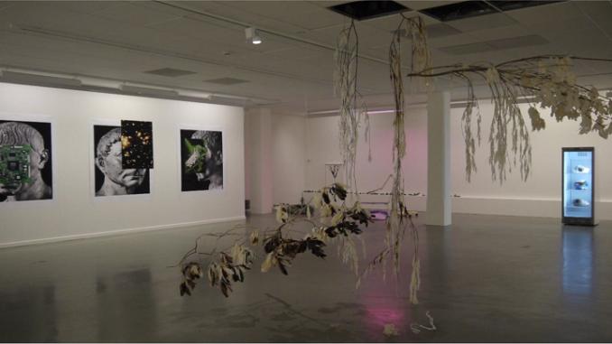Vue de l'exposition Bye Bye His-Story au Centre de la Gravure et de l'Image Imprimée, La Louvière, 2021. © L. Segard