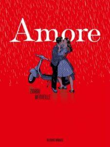 Couverture de la BD « Amore » (Delcourt – Mirages, 2021)