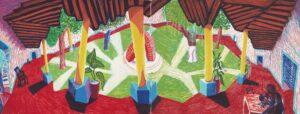 David Hockney. Hotel Acatlan: Two Weeks Later, 1985. Lithographie, 73,5 x 94 cm. Édition limitée à 98. Tate : Don de l'artiste 1993 © David Hockney / Tyler Graphics Ltd. Photo : Richard Schmidt.